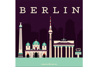 دانلود وکتور Skyline of the monuments of berlin