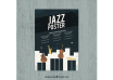 دانلود وکتور Hand drawn poster for international jazz day