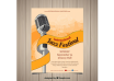 دانلود وکتور International jazz festival hand drawn poster