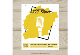 دانلود وکتور International jazz show poster