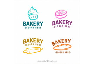 دانلود وکتور Set of bakery logos