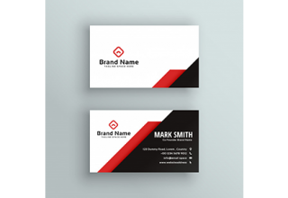 دانلود وکتور Professional red and black business card design