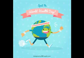 دانلود وکتور World health day background