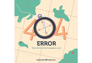 دانلود وکتور 404 error web template with map in flat style