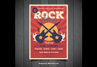 دانلود وکتور Rock music poster