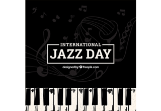 دانلود وکتور Nice background for the international jazz day