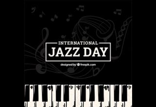 دانلود وکتور Nice background for the international jazz day