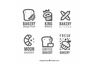 دانلود وکتور Bakery logos collection in flat style