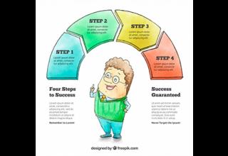 دانلود وکتور Hand drawn infographics