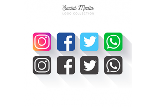 دانلود وکتور Popular Social Media logo collectio