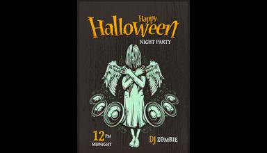 دانلود وکتور Halloween poster