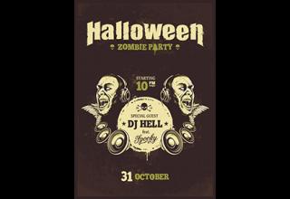 دانلود وکتور Halloween poster template