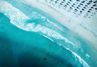 Beach Seashore Aerial Photography Wallpaper
