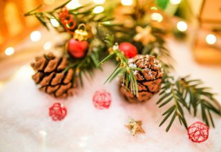 Christmas Decoration Ornaments Depth of Field Wallpaper