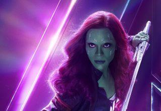 Gamora in Avengers: Infinity War New Poster Wallpaper
