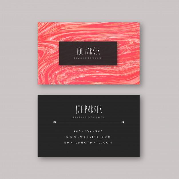دانلود وکتور Marble Textured Visiting Cards