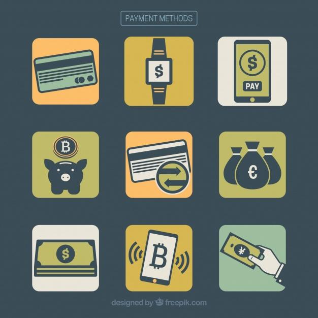 دانلود وکتور Modern pack of payment methods