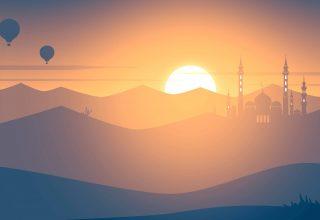 Mosque Sunset 4k Wallpaper