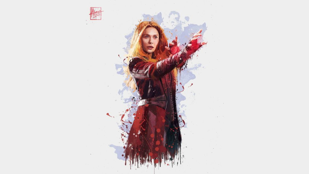 Scarlet Witch in Avengers: Infinity War 2018 4k Artwork Wallpaper