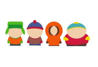 South Park Main Characters Minimalism Wallpaper