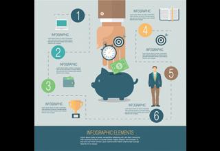 دانلود وکتور Business infographic template