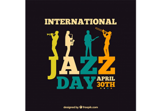 دانلود وکتور International jazz day template