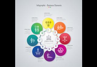 دانلود وکتور Business elements infographic