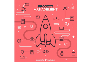 دانلود وکتور Red flat project management concept