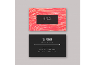دانلود وکتور Marble Textured Visiting Cards