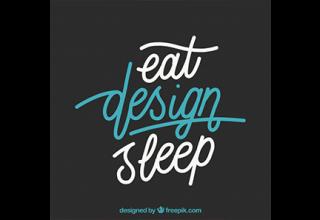 دانلود وکتور Graphic design quote in hand drawn style