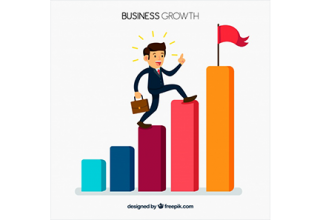 دانلود وکتور Business concept with man climbing bars
