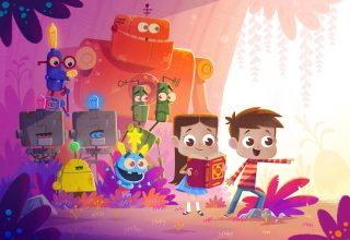 Children Kids Robots Illustration Colorful Wallpaper