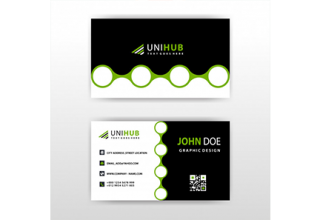 دانلود وکتور Visit card with abstract circular shape