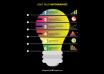 دانلود وکتور Light bulb infographic