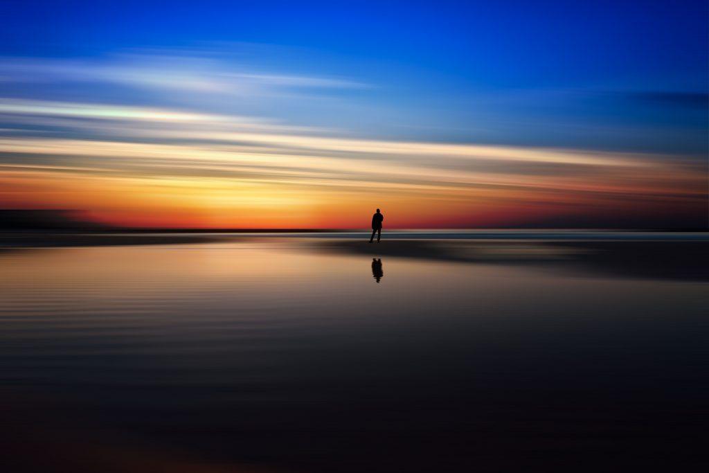 Beach Dusk Sunset Silhouette 5k Wallpaper