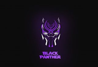 Black Panther Neon Wallpaper