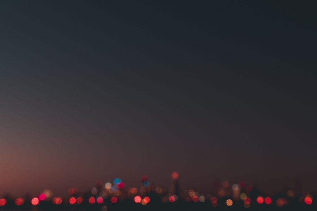 Buildings View Blur Lights Effect Sky Wallpaper