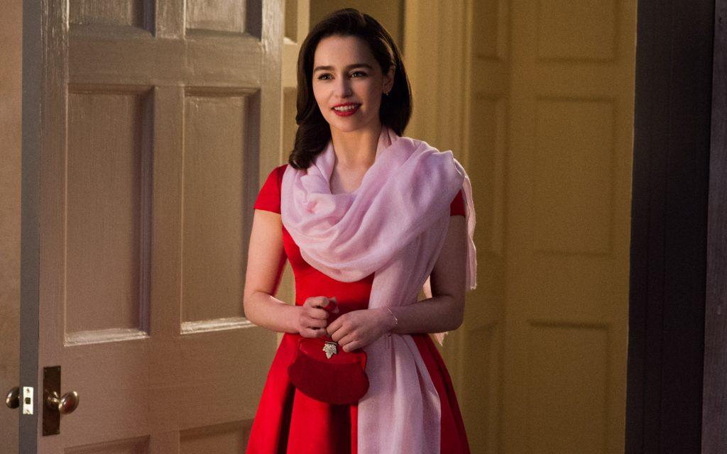 Emilia Clarke Red Dress Me Before You Wallpaper