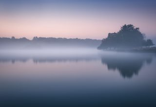 Foggy Richmond Park Morning Cold Reflections London 5k Wallpaper