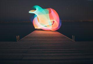 Lake Light Minimalism 4k Wallpaper
