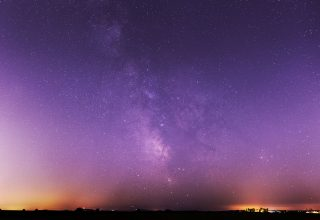Milky Way Stars Night Sky Purple Wallpaper