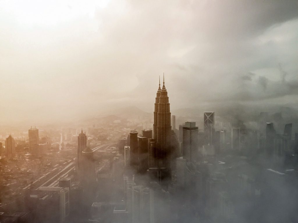 Skyscraper City Building Fog Tower Wallpaper