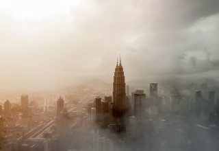 Skyscraper City Building Fog Tower Wallpaper