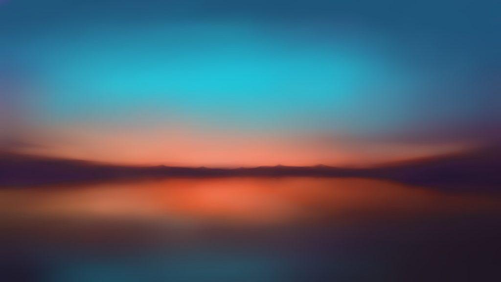 Sunset Dusk Reflections Minimal Wallpaper