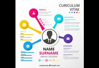 دانلود وکتور Modern resume template