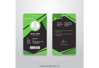 دانلود وکتور Abstract id card template with flat design