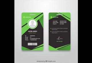 دانلود وکتور Abstract id card template with flat design