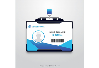 دانلود وکتور Realistic id card with plastic support