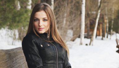 Women Outdoors Wearing Black Jacket Wallpaper