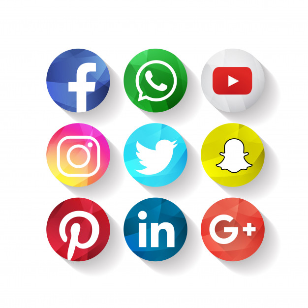 دانلود وکتور Creative Social Media Icons Facebook